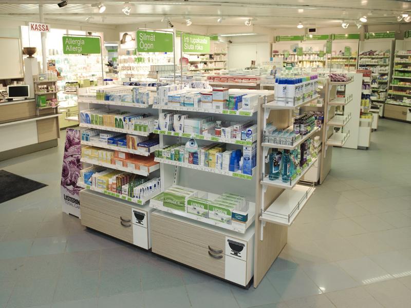 Varjopuu Oy  Tinkimättömän laadun apteekkikalusteet